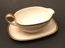 Vintage Eschenbach Gravy Boat with Attached Underplate / Germany