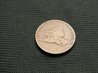 1857  Copper Nickel Cent Flying Eagle Cent type pre civil war era