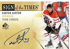 Carter Ashton 12/13 UD SP Authentic Sign of the Times Auto #SOT-CA.