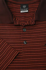 Nike Golf Men's Burgundy & Gold Stripe UV Dri-Fit Polo Shirt XL XLarge