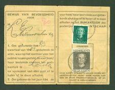 NEDERLAND Postbuskaartje 1953
