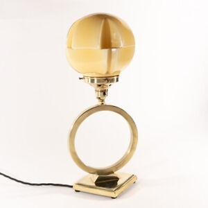 Art Deco Geometric Modernist Saturns Ring Table Lamp Light