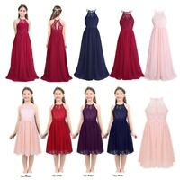 Flower Girl Dress Party Wedding Bridesmaid Princess Lace Chiffon Formal Dresses