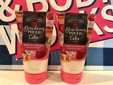 Bath & Body Works STRAWBERRY POUND CAKE Whipped Confetti Body Scrub Lot of 2 NEW