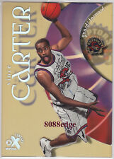 1998-99 E-X CENTURY ROOKIE CARD: VINCE CARTER #89 RC CLEAR ACETATE PLASTIC