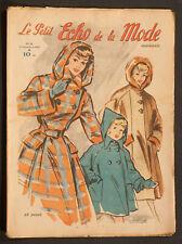 'ECHO DE LA MODE' FRENCH VINTAGE NEWSPAPER 13 NOVEMBER 1949