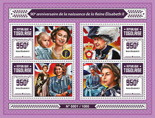 Togo 2016 MNH Queen Elizabeth II 90th Birthday Anniv 4v M/S Royalty QEII Stamps