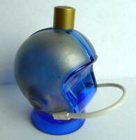 Avon Blue Cobalt Football Helmet Bottle with face guard  RARE