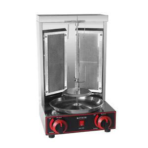 220V Stainless Steel Gas Shawarma Machine Kebab Gyros Grill Rotisserie Grill LPG
