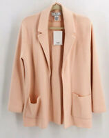 Magaschoni NWT Wool Open Front Blazer in Soft Pink Size Medium