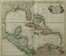Map Caribbean Cuba, Hispaniola, Jamaica, Pto Rico, Lucania, Antillae Florida