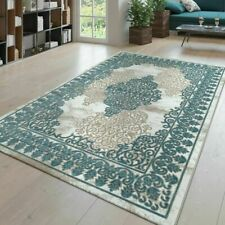 Traditional Rug Victorian Style Carpet Living Room Quality Oriental Mats Blue