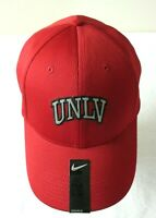 Nike Mens UNLV Rebels Legacy 91 Swoosh Flex Hat Red Grey Black Cap Size M/L NWT