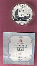 CHINA 50 YUAN 2011 PANDA 5 0Z AG PROOF IN ORIGINAL CASE/BOX CERTIFICATE RARE