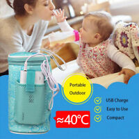 Portable Baby Bottle Warmer Heater USB Insulated Food Bag Car Traveling Outdoor