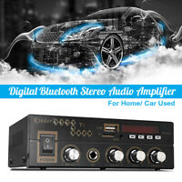 600W bluetooth AUX Audio Stereo Digital Car Amplifier USB FM Remote   #AU