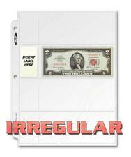 BCW 4 POCKET CURRENCY 200 PAGES IRREGULAR LABEL POCKET REVERS PVC/ACID FREE