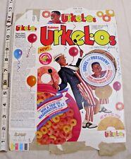 URKEL*OS CEREAL BOX URKEL FOR PRESIDENT WASHINGTON TRIP GIVE AWAY RALSTON