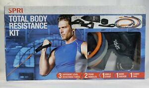 Spri Total Body Resistance Kit Exercise Fitness