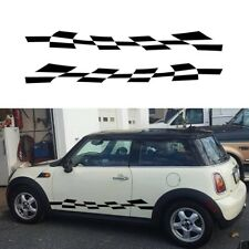 Checkered Flag Mini cooper side wings decal sticker docoration styling