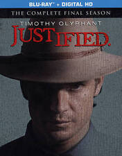 Justified: The Final Season (Blu-ray Disc, 2015, 3-Disc Set) - NEW!!