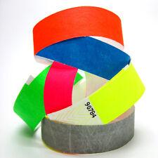 1000 Einlassbändchen Papierarmbänder Kontrollarmbänder Eventbändchen VIP Bänder