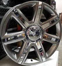 "22"" Wheels Pirelli A/S Tires New Platinum Style Rim Hyper Black Ch Fit Escalade"