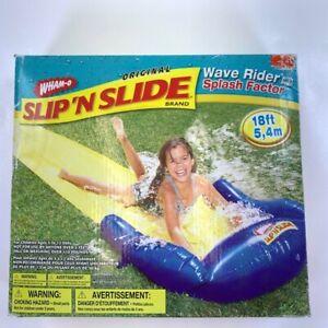 Wham-O Original Slip 'N Slide Wave Rider With Splash Factor Blue 2004 18ft New
