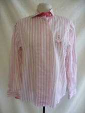 Ladies Blouse - Erfe, size 38, red/white stripes, shoulder pads, motif - 1890