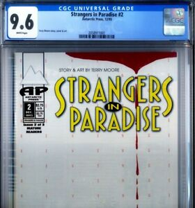 PRIMO:  STRANGERS in PARADISE #2 NM+ 9.6 CGC 1st print SIP 1993 ANTARCTIC Press