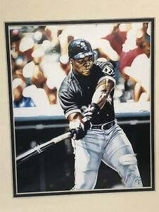 1995 Frank Thomas Chicago White Sox Matted Kelly Russell Lithograph Print #1603