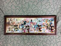 Disney Bradford Exchange 100 Year 3D Plates Walt Mickey Mouse Wood Frame COA