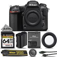Nikon D500 Dslr Camera Body Built-In Wi-Fi, 4K Uhd Video Recording - Saving Kit