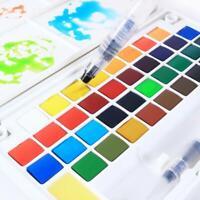 12/18/24/36 Colors Aquarellfarben-Set mit festem Pigment und-Aquarellpinsel