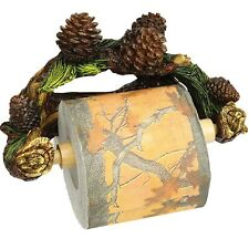 Rivers Edge Pine Cone Toilet Paper Holder Bathroom Wall Mount Camp Lodge Forest