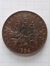 France 5 francs 1994 . semeuse . dauphin . TB
