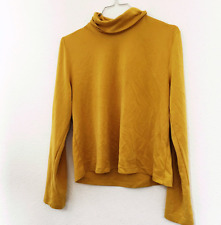 MUSTARD ROLL NECK TOP SIZE 10