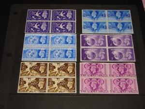 (AB105)  GEORGE VI BLOCKS OF 6 MNH 1948 OLYMPICS & MORE