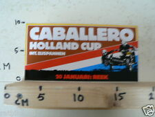 STICKER,DECAL REEK 20 JANUARI HOLLAND CUP INT. ZIJSPANNEN , SIDECARS MX CABALLER