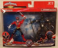 Power Rangers Mega Collection Samurai Red Ranger Fire & Villain Ninja (MISP)