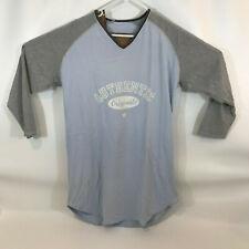 Marks & Spencer Womens Long Sleeve Blue and grey tee shirt UK 12-14 us 8-10