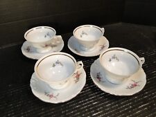 Wawel Rose Garden Tea Cup & Saucer Sets Poland 4 EXCELLENT