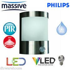 PHILIPS MASSIVE VILNIUS LED 5.9W C/W PIR SENSOR MOVEMENT OUTSIDE LIGHT LANTERN