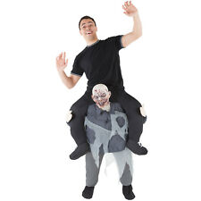 Zombie Piggyback Costume Adult Ride On Scary Halloween Monster Fancy Dress