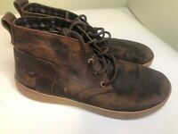 Chaco Davis Ankle Boots Brown Leather Chukka Comfort Walking Shoes Mens Size 9.5
