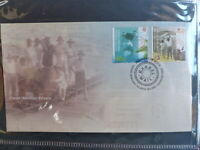 AUSTRALIA 2013 COCOS Is BARREL MAIL SET 2 STAMPS FDC FIRST DAY COVER