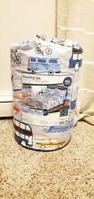 7 Piece Kids Your Zone Transportation Bed In A Bag - Full Bed Set - New