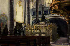 Innsbruck Tirol alte Ansichtskarte 1943 Innenansicht der Hofkirche Kirche Kanzel