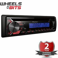 Pioneer deh-1900ubb Auto Stereo Radio CD MP3 PLAYER USB AUX ,Bogen rot blau