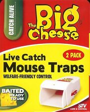 Mouse Trap Live Catch 2 pack The Big Cheese Welfare Friendly Baited Ready to Use